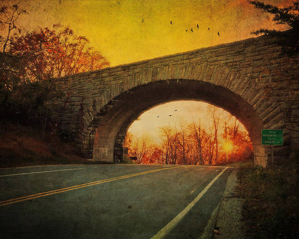 Sunset Poster featuring the photograph Sunset On Blue Ridge Parkway by Kathy Jennings