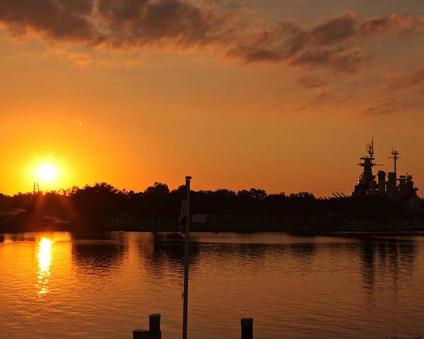 Poster featuring the photograph Sunset On Cape Fear by Lisa McLean Adams