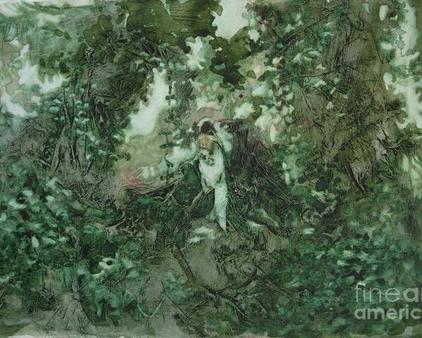 Kudzu Poster featuring the painting Surprised Bather by Elizabeth Carr