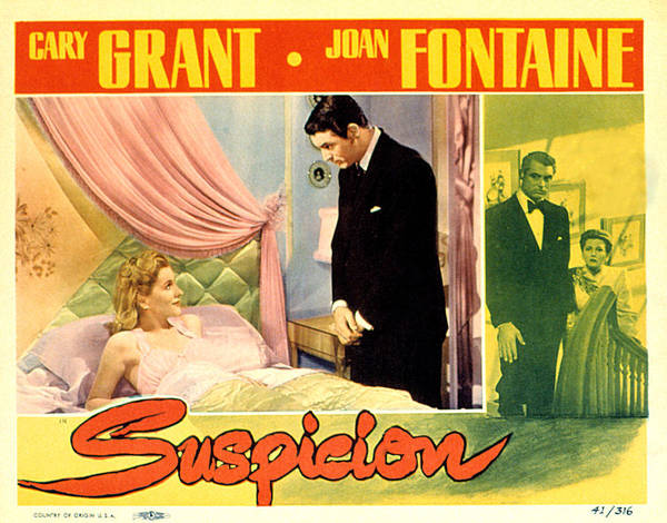 1940s Movies Poster featuring the photograph Suspicion, Joan Fontaine, Cary Grant by Everett