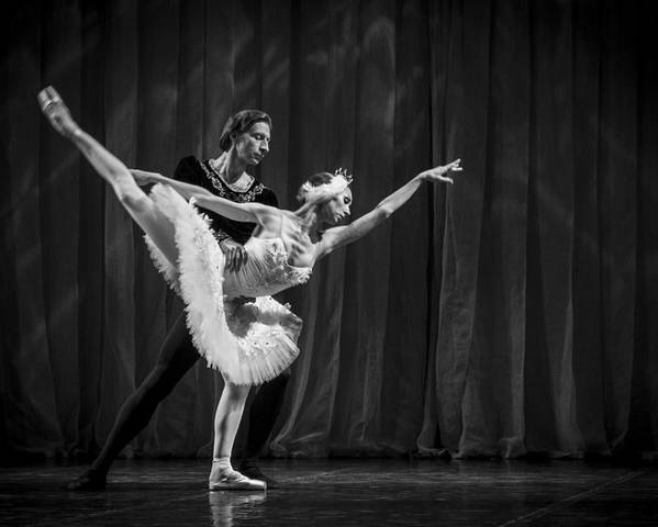 Hermitage Poster featuring the photograph Swan Lake White Adagio Russia 3 by Clare Bambers