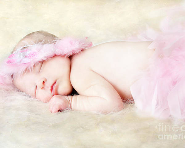 Adorable Poster featuring the photograph Sweet Baby Girl by Darren Fisher