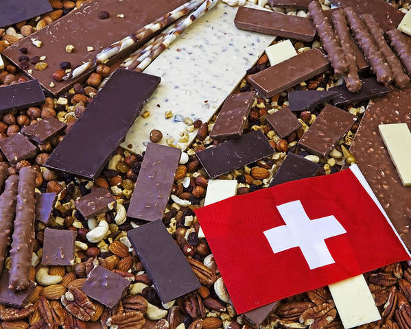 Chocolate Poster featuring the photograph Swiss Chocolate by Joana Kruse