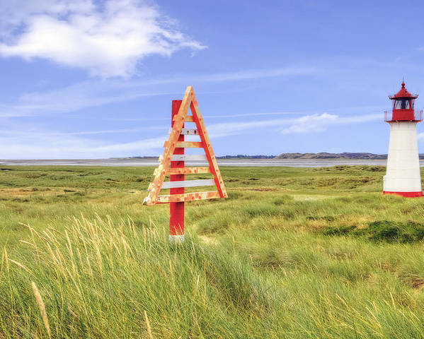 Warning Sign Poster featuring the photograph Sylt by Joana Kruse