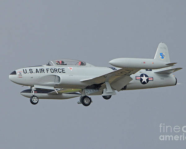Vehicles Poster featuring the photograph T-33 Fighter by Dennis Hammer