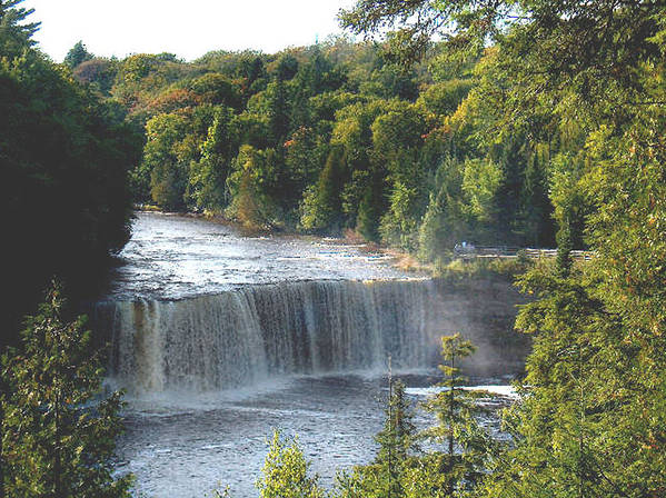 Waterfall Poster featuring the photograph Tahquamenon Falls 1531 by J D Whaley