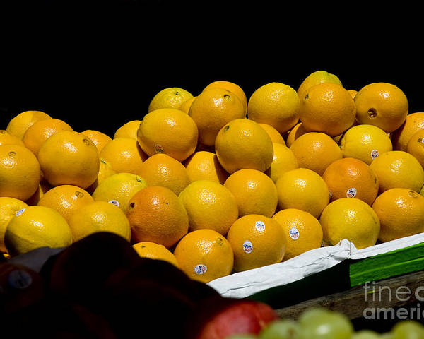 Organic Poster featuring the photograph Tangerines For Sale by Tim Mulina