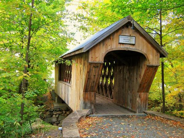 Nh Poster featuring the photograph Tannery Hill Covered Bridge by Wayne Toutaint