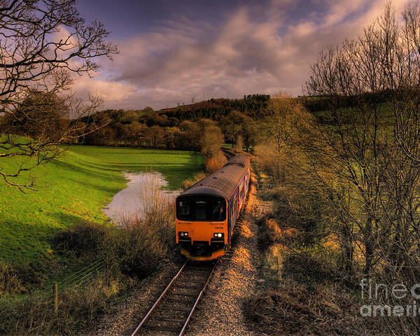 Train Poster featuring the photograph Taw Valley by Rob Hawkins