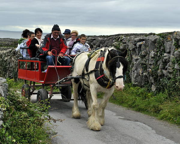 Aran Islands Poster featuring the photograph Taxi by Joe Ormonde
