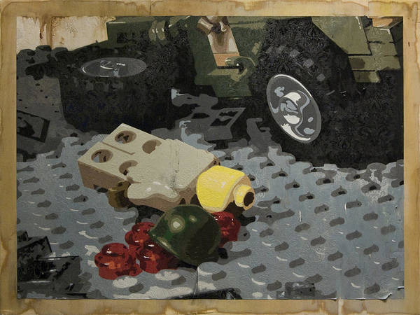 Lego Poster featuring the painting Tellermine Aftermath by Josh Bernstein