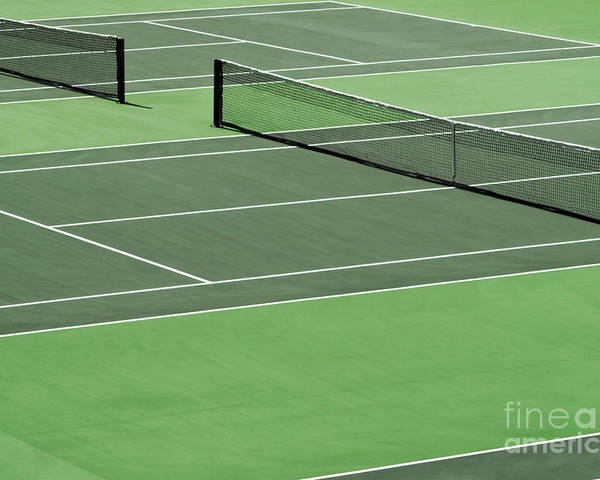 Sport Poster featuring the photograph Tennis Court by Blink Images