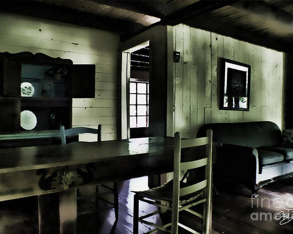 Cabin Poster featuring the photograph Textured Art - Inside Heaven by Cris Hayes