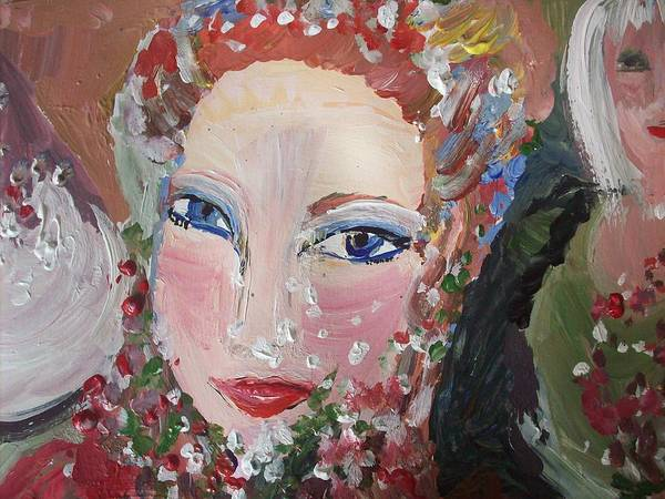 Friend Poster featuring the painting Thank You Helen by Judith Desrosiers