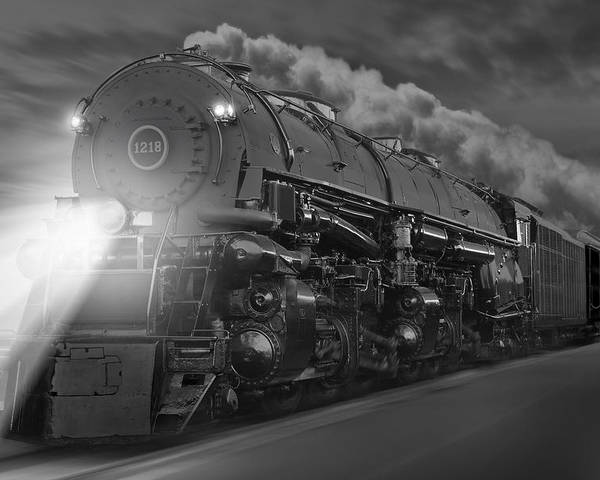Transportation Poster featuring the photograph The 1218 On The Move by Mike McGlothlen