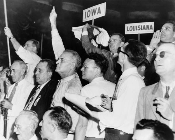 History Poster featuring the photograph The Agitated Alabama Delegation by Everett