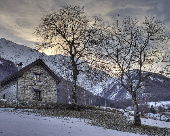 Palagnedra Poster featuring the photograph The Alps In Winter by Joana Kruse