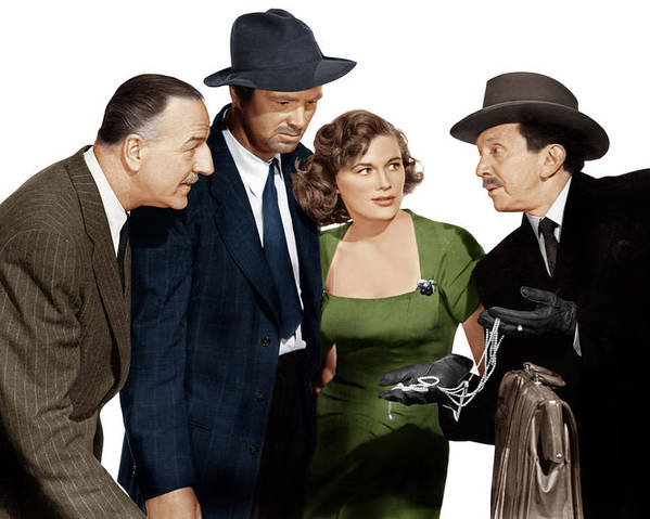 1950 Movies Poster featuring the photograph The Asphalt Jungle, From Left Louis by Everett