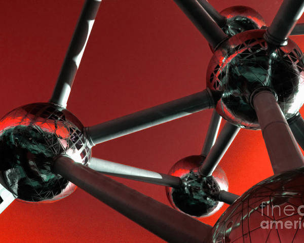 Atomium Poster featuring the photograph The Atomium by Rob Hawkins