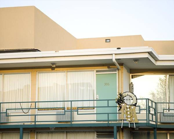 History Poster featuring the photograph The Balcony Of The Lorraine Motel Where by Everett