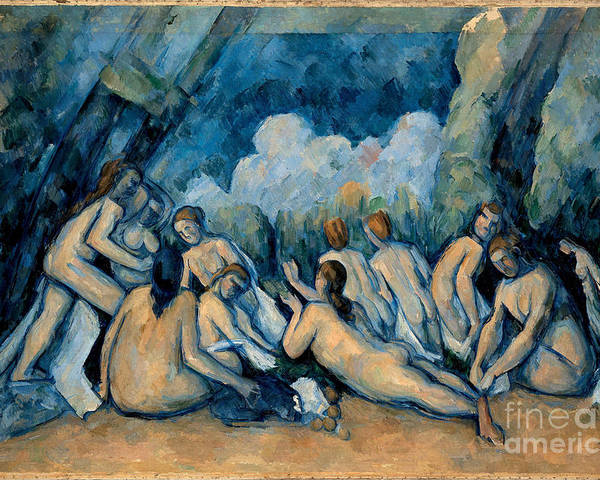Cezanne Poster featuring the painting The Bathers by Extrospection Art