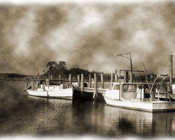 Boats Poster featuring the photograph The Bayou by Barry Jones