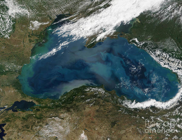 Color Image Poster featuring the photograph The Black Sea In Eastern Russia by Stocktrek Images