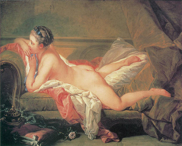 Francois Boucher Poster featuring the painting The Blonde Odalisque by Francois Boucher