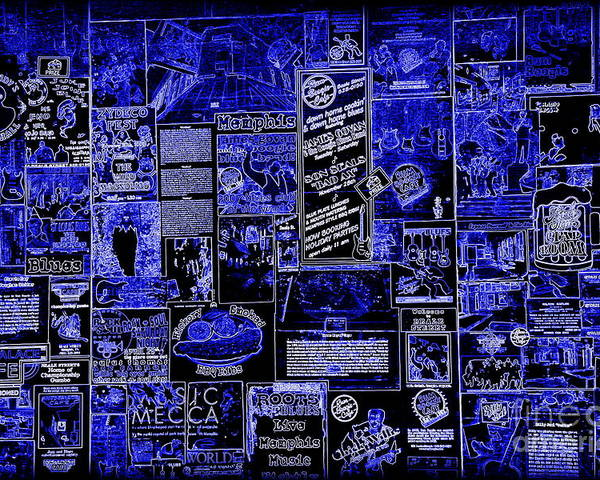 Memphis Blues Poster featuring the photograph The Blues In Memphis by Carol Groenen