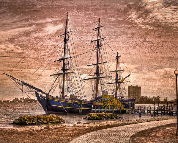 Boats Poster featuring the photograph The Bounty by Debra and Dave Vanderlaan
