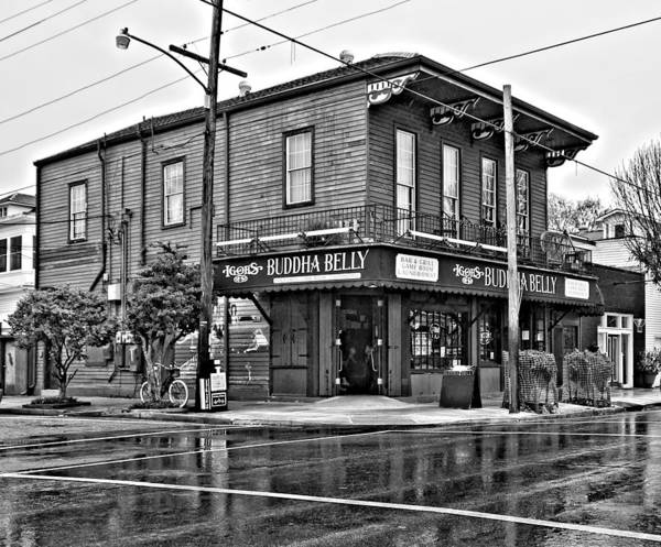 New Orleans Poster featuring the photograph The Buddha Belly Monochrome by Steve Harrington