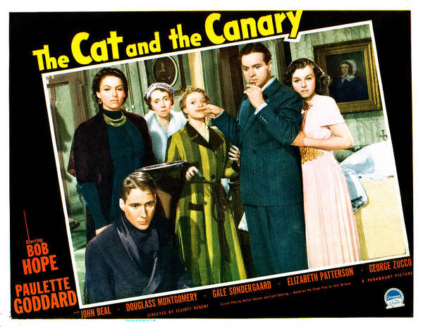 1930s Movies Poster featuring the photograph The Cat And The Canary, Front To Back by Everett