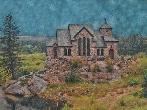Church Poster featuring the digital art The Chapel by Ernie Echols