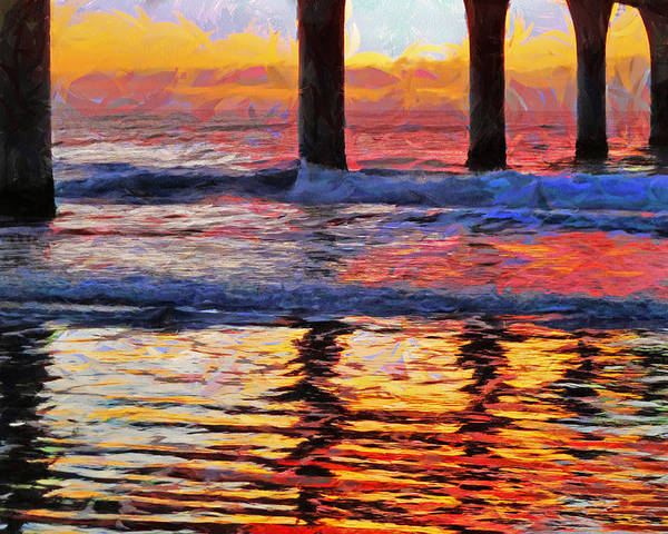 Multicolour Poster featuring the photograph The Colours Of Dawn by Steve Taylor