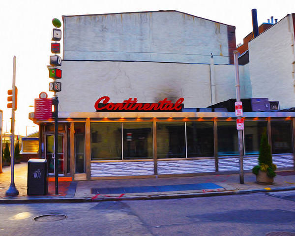 The Continental Diner Poster featuring the photograph The Continental Diner by Bill Cannon