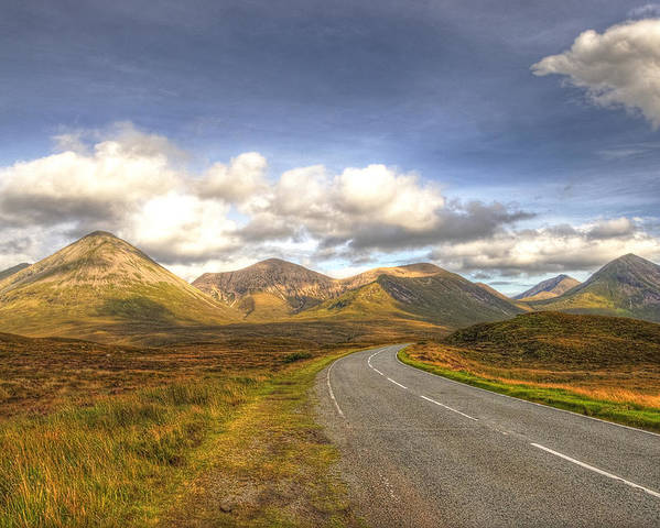 Cuillin Mountains Poster featuring the photograph The Cuillin Mountains Of Skye by Chris Thaxter
