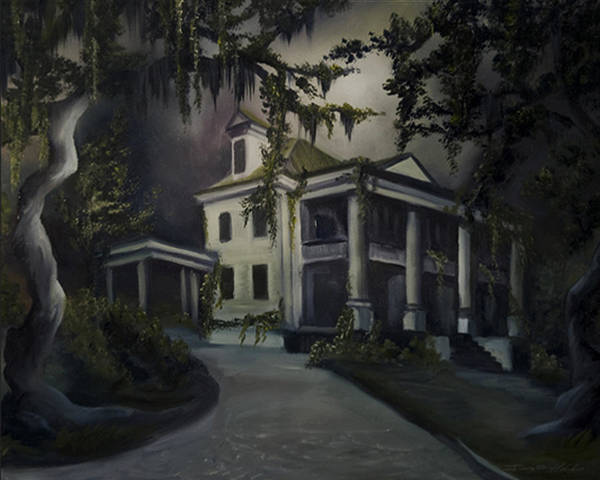 Ruins Poster featuring the painting The Dark Plantation by James Christopher Hill