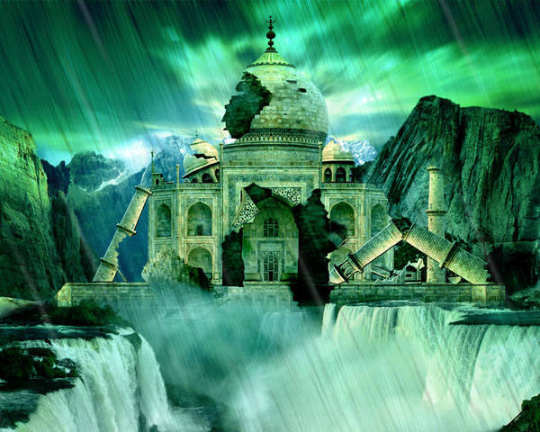 Taj Mahal Poster featuring the digital art The Day The Earth Moved by Julie L Hoddinott