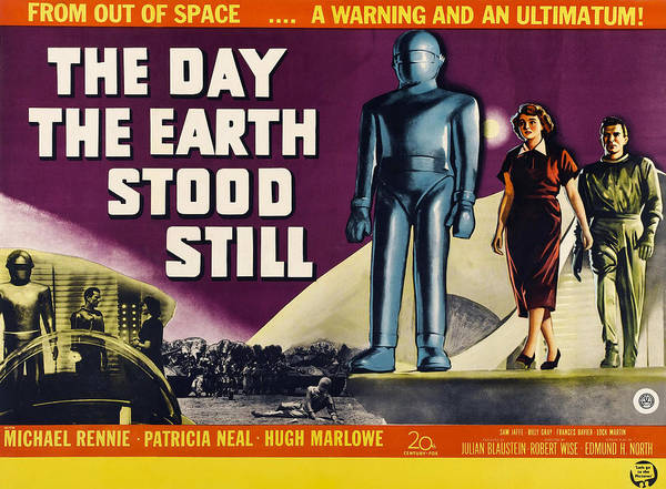 1950s Poster Art Poster featuring the photograph The Day The Earth Stood Still, Lock by Everett