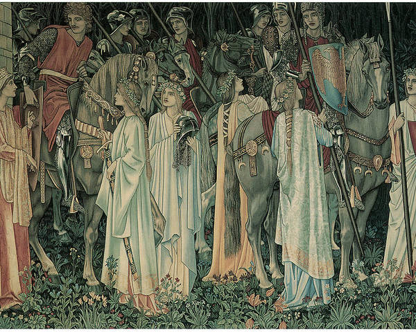 Edward Burne-jones Poster featuring the painting The Departure Of The Knights by Edward Burne-Jones