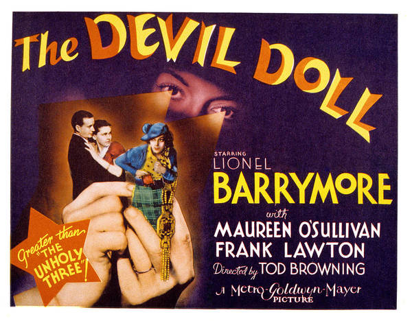 1930s Movies Poster featuring the photograph The Devil Doll, Frank Lawton, Maureen by Everett