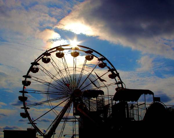 Ferris Wheel Poster featuring the photograph The End Of The Day by Kenneth Mucke