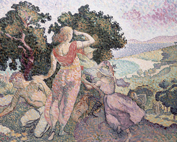 The Excursionists Poster featuring the painting The Excursionists by Henri-Edmond Cross