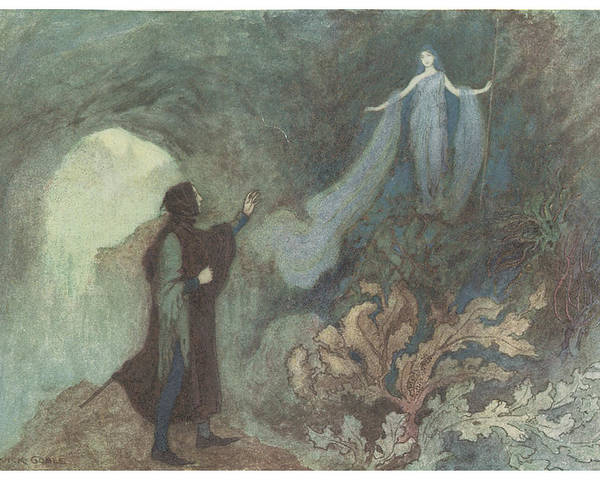 Warwick Goble Poster featuring the painting The Fairy Appearing To The Prince by Warwick Goble