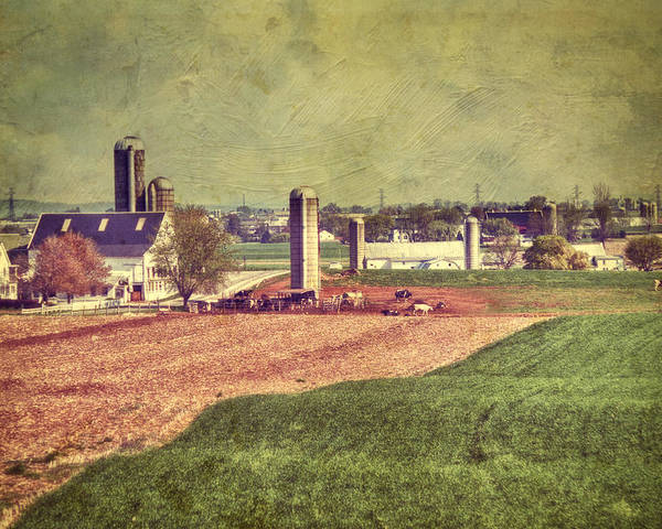 Amish Poster featuring the photograph The Farm In Lancaster by Kathy Jennings
