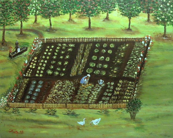 Landscape Poster featuring the painting The Garden by Kenneth LePoidevin