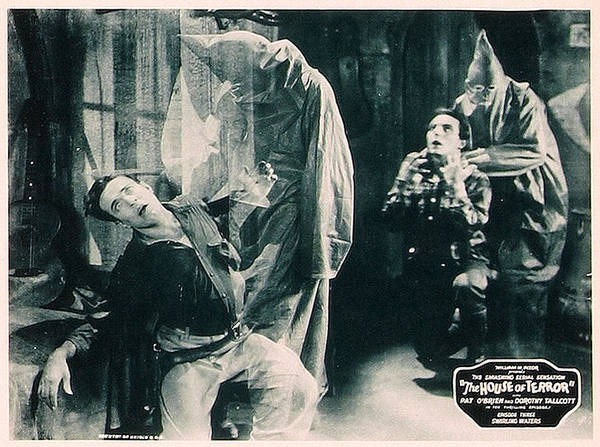 1920s Movies Poster featuring the photograph The House Of Terror, Front Left Jack La by Everett
