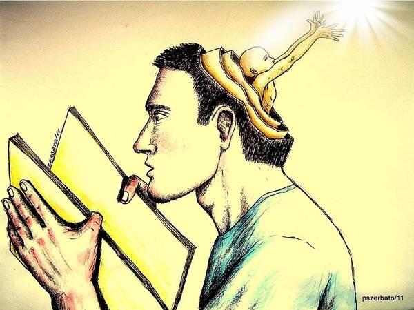 Human Symbolic Communication Poster featuring the digital art The Human Symbolic Communication by Paulo Zerbato