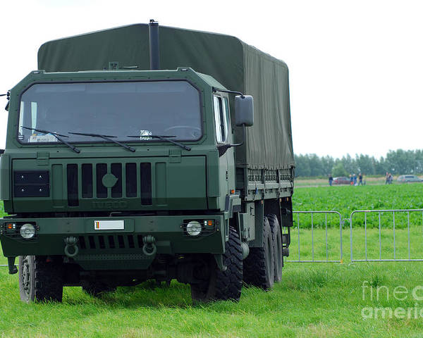6x6 Poster featuring the photograph The Iveco M250 8 Ton Truck by Luc De Jaeger