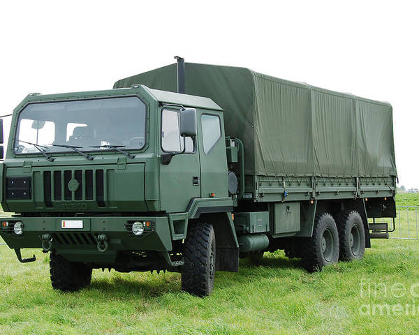 6x6 Poster featuring the photograph The Iveco M250 Used By The Belgian Army by Luc De Jaeger